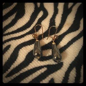 A pair of vintage ladies earrings